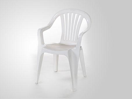white plastic chair rental